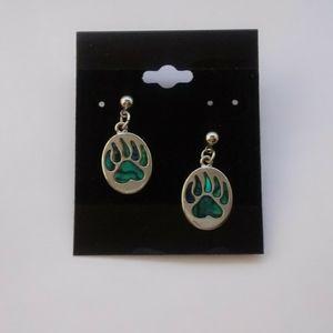 Native American Bear Paw Earrings